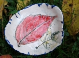 Ash and Maple Leaf Dish Ceramic Bowl Spoon Rest