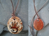 Hopi Hand Necklace Ceramic Pendant