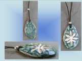Marijuana Leaf Aromatherapy Necklace Ceramic Aquamarin Diffuser