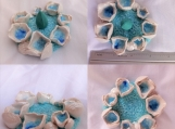 Porcelain Sea Barnacle Tidal Pool Incense Burner