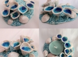 Porcelain Sea Barnacle Tidal Pool Tea Lite Holder Ring Dish