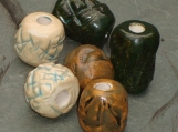 Set 6 Macrame Beads Ceramic