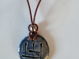 UR Wolf Cuneiform Necklace Sumerian Blue Ceramic Amulet