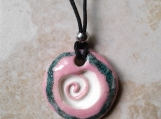 Aromatherapy Necklace Pink Aquamarine Clay Essential Oil Diffuser Pendant