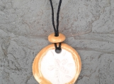 Sand Dollar Necklace Yellow Gold Aromatherapy Clay Pendant Essential Oil Diffuser