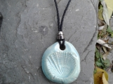 Seashell Necklace Turquoise Aromatherapy Ceramic Pendant Essential Oil Diffuser Scallop Shell