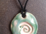 Spiral Aromatherapy Necklace Sea Turquoise Ceramic Essential Oil Diffuser Pendant