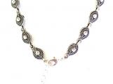Unique Anklet of Antique Silver Tear Drop Beads