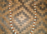 Brown & White Glass Beaded Necklace and Bracelet