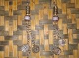 Coin & Purple Earrings