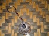 Feather Beaded Keychain