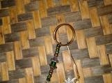 Green Czech Glass & Fairy Key Chain