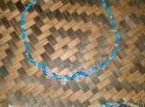 Sky Blue & Clear Glass Beaded Necklace and Bracelet