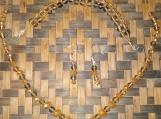 Gold & Black Glass Beaded Necklace, Bracelet, & Earring Set