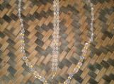 Gold & Clear Beaded Necklace and Bracelet