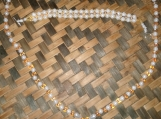 Gold & White Beaded Necklace and Bracelet