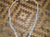 Light Blue & White Bead Necklace and Bracelet
