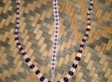Purple & Clear Beaded Necklace and Bracelet