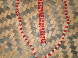 Red & Clear Beaded Necklace and Bracelet