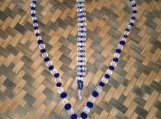 Royal Blue & Clear Beaded Necklace and Bracelet