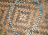 Sky Blue / Light Blue & Clear Bead Necklace and Bracelet