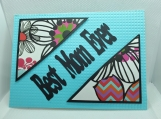 Blue Best Mom Ever Card