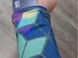 Bokeh Geo Wrist Wallet, Money Cuff, Gift For Him, Gift For Her, Geo, Wrist Wallet, Running, Gym Wallet, Ring Holder, Wristband, Valuable