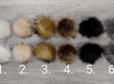 Faux Fur PomPoms for Beanies/Toques