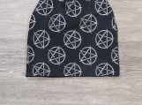 Pentagram Beanie, Toque, Slouchy Beanie, Gothic, Wiccan, Pagan, For Everyone, Gift For Everyone, Unisex. Beanie for Him, Beanie for Her