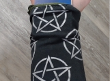 Pentagram Wrist Wallet, Wallet, Pagan, Gift For Him, Gift For Her, Witch, Wrist Wallet, Running, Gym, Shopping, Money Cuff, Ring Holder