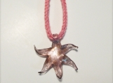 Pink Glass Sea Star Pendant