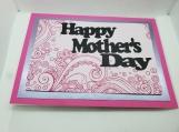 Pink Swirl Mom Card