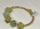 Prehnite chunky wrap bracelet