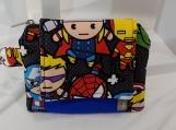 Superhero Cotton Print Wallet, Superhero Wallet, Mini Wallet, Wallet with Clip, Avengers Wallet, Gift For Kid, For Anyone, Kawaii