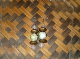 Mixed Green Bead and  Glass Bead set