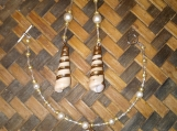 Pearl and Shell Glass Bead