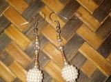 Rose Crystal & Pearl Bead Earring