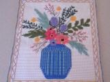 Wildflowers in blue vase