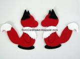 2 Paper Die Cut Foxes - Red