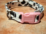 COW-A-BUNGA Organic Cotton Dog Collar Retro Vintage SIZE SMALL
