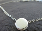 Moondust Slider Reversible Necklace . Sterling Silver