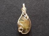 Labradorite silver wrapped oval pendant