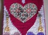 Valentine's Day Heart yarn stitched