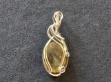 Green Labradorite necklace silver