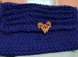 Blue crochted Clutch bag