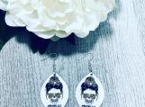 Mom Life Skull Earrings
