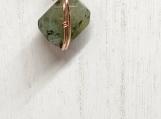 Prehnite pendant, handmade pendant, womens necklace