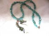 Aqua sea horse necklace