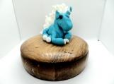 Aqua unicorn on a jewelry box