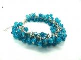 Beautiful blue cha cha bracelet
